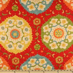 Richloom Cornwall Cadmium Garden Modern Suzani by FinePillowCovers, $30.00