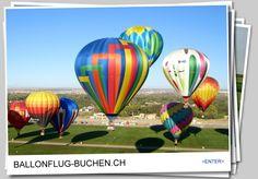 Ballonflug oder Ballonfahrt in der Schweiz