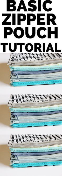 zipper pouch tutorial - lined, with zipper edges enclosed between lining and outer fabric for a neat finish.