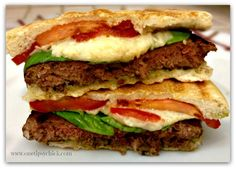 Caprese Burger Panini - One TIPsy Chick