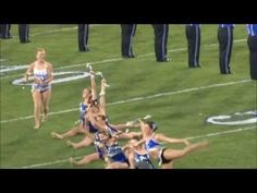 Kentucky twirlers at UK/USC game- highlights- 2012