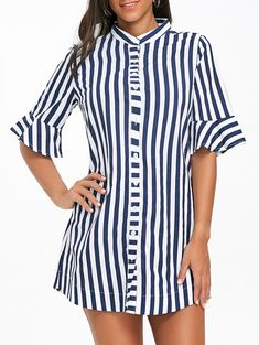 SHARE & Get it FREE | Bell Sleeve Striped Tunic ShirtFor Fashion Lovers only:80,000+ Items • New Arrivals Daily • Affordable Casual to Chic for Every Occasion Join Sammydress: Get YOUR $50 NOW!