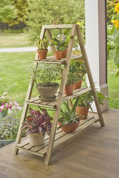 A-Frame Plant Stand Set | Buy from Gardener's Supply... If my herbs make it through the summer, I want one!!!