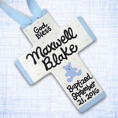 Baptism Gift - Christening Gift for Boys- Personalized Baby Baptism…