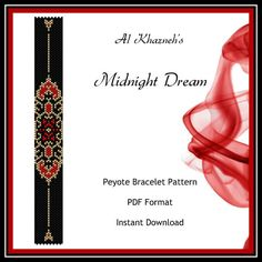 Peyote Bracelet Pattern MIDNIGHT DREAM by AlKhazneh on Etsy