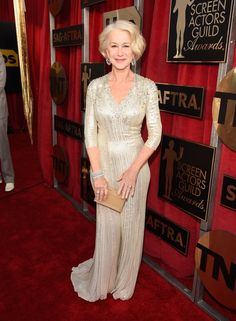 Pin for Later: London's Finest Dressed These SAG Awards Attendees Helen Mirren Wearing Jenny Packham.