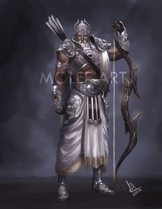 Arjuna - The Archer The closest thing to a protagonist the Mahabharata has. Son of Indra, the god of rain and thunder. The middle Mythological Characters, Fantasy Characters, Epic Characters, Indian Gods, Indian Art, Fantasy Warrior, Fantasy Art, Dark Fantasy, Rain And Thunder
