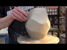 Pottery Video: A Sweet Handbuilt and Wheel Thrown Dessert Bowl | DEB SCHWARTZKOPF - YouTube