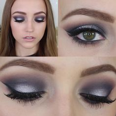 Navy Blue and Silver smokey eye, Kathleenlights on YouTube