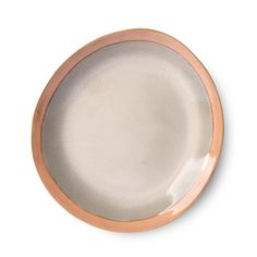 Ceramic side plate Earth from HK Living's popular ceramics series. The plates are all unique due to the handmade finish. Never change a Side Plates, Plates And Bowls, Support Telephone, Most Luxurious Hotels, Earth Color, Table Design, Pottery Plates, Finding A House, House Doctor