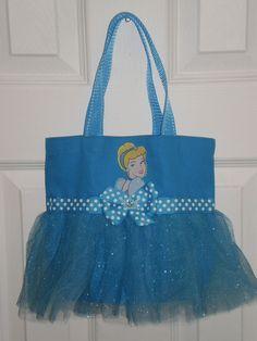 Princess Cinderella Mini Tutu Tote Bag. $18.00, via Etsy.