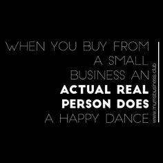 #TrueThat #SmallBusiness #HappyDance