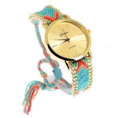 Para poner un toque de color al domingo, os proponemos nuestro reloj de hilo con cadena  Queda genial!!!  Para regalar o regalarse Adelantate a la navidad ⛄ ❗ENVIO GRATIS❗⬇  http://www.misstendencias.com/29-relojes #relojes #original #regalos #navidad #oferta #rebajas #tendencias #outfit #style #blogger #cool #chic #etnico #complementos #colores #domingo #diciembre #adelantetealanavidad #dateuncaprichohoy #capricho #detalle