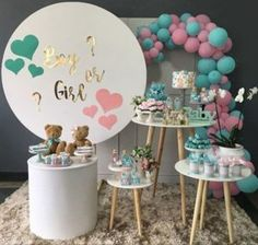 New Baby Reveal Cake Pops Shower Ideas 18 Ideas Decoration Buffet, Deco Buffet, Gender Party, Baby Gender Reveal Party, Idee Baby Shower, Baby Shower Themes, Shower Ideas, Simple Gender Reveal, Baby Reveal Cakes