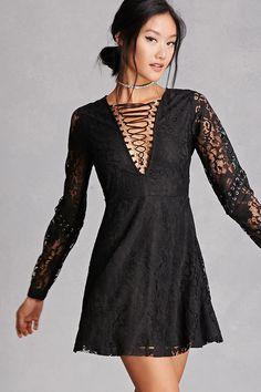 Twelve Lace V-Neck Mini Dress