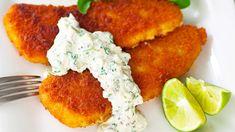 Tartarkastike kalalle   Kastikkeet   Yhteishyvä Gluten Free Recipes, Keto Recipes, Tandoori Chicken, Salmon Burgers, Goodies, Food And Drink, Fish, Koti, Meat