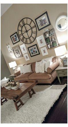Living Room Clocks, Living Room Paint, Living Room Modern, Living Room Designs, Living Room Furniture, Living Room Decor, Living Rooms, Small Living, Diy Design