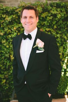 Formal Groom   See the wedding on Style Me Pretty: http://www.StyleMePretty.com/2014/02/24/modern-new-york-wedding-at-the-foundry/ Photography: Maggie Harkov