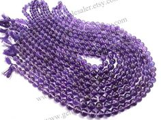Amethyst African Smooth Round Quality AA /  by GemstoneWholesaler