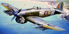 Hawker Typhoon Mk Ib 'Shark Mouth' (Hasegawa box art)