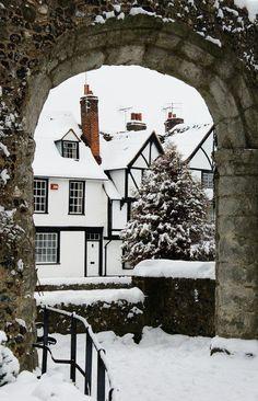 Canterbury, England #snow