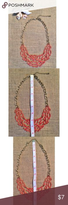 Coral Necklace Metal Coral Design Necklace. Adjustable gold chain. Worn ONCE! From Entourage Boutique. Entourage Jewelry Necklaces