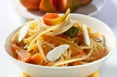 spahgetti med tomat Spaghetti, Ricotta, Pasta, Ethnic Recipes, Food, Essen, Meals, Yemek, Noodle