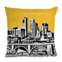 City Scape Pillows - Minneapolis - they have Denver, Chicago, NYC, LA, Las Vegas, etc.