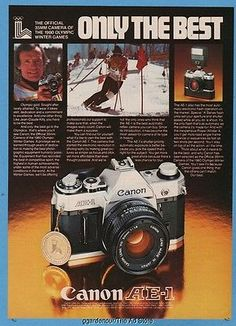 1980 jean-claude #killy olympic skier skiing #canon ae-1 photo print #camera ad,  View more on the LINK: 	http://www.zeppy.io/product/gb/2/151979112994/
