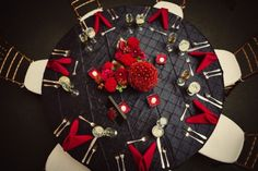 Black and Red Wedding Reception Tables Maryland Wedding Reception: Carly + Tim Red Wedding Receptions, Wedding Reception Tables, Tent Wedding, Wedding Table Settings, Wedding Decorations, Wedding Ideas, Wedding Chairs, Wedding Planning, Wedding Inspiration