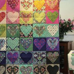 Sneak peak at the new range 'Slow & Steady' and quilt by @tulapink ...what a fantastic morning at @millrosequiltingandgallery…