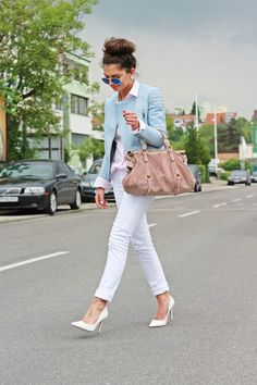 FashionHippieLoves: outfit: pastels + white pumps