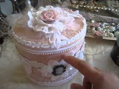 Gorgeous Shabby Chic n Victorian Altered Metal Tins