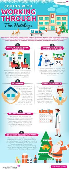 Christmas is seen as the time year to slow down and spend time with your friends and family. So how do you deal when you're stuck working through the Nursing Career, Infographics, Appreciation, Thankful, Organization, Holidays, Times, Health, Party