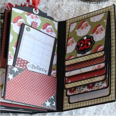 Christmas (Vertical) Paper Bag Mini Album - Link to tutorial at the end of post Christmas Mini Albums, Christmas Scrapbook, Christmas Minis, Christmas Books, Christmas Paper, Xmas, Paper Bag Books, Paper Bag Album, Mini Photo Albums
