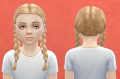 OR child hair base game compatible at Pickypikachu • Sims 4 Updates