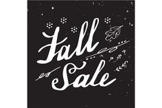 5 Autumn hand lettering designs by Sunshine Art Shop on @creativemarket