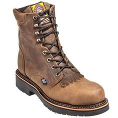 Justin Blueprint Men S Rugged Tan Round Steel Toe 8 Quot Lace