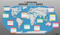 Overland travel routes