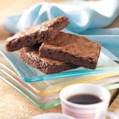 Chewy Chocolate Brownies Recipe by Michele Doucette of Stephenville, Newfoundland — from Healthy Cooking Magazine