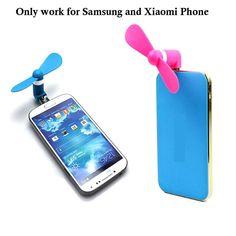5Pin Smartphone Mini Fan Portable Super USB Cooler Cooling mini Fan Creative USB Fan Portable Mini Fan For Xiaomi android Phone