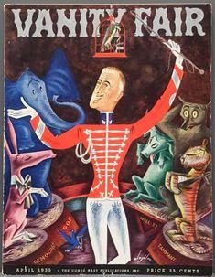 Vanity Fair Cover - April 1935 Stretched Canvas Print by Constantin Alajalov Vanity Fair Magazine, Art Deco Vanity, Magazine Cover Design, Canvas Prints, Art Prints, All Art, Art For Sale, Find Art, Cover Art