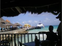 #LifeProofBlue - View of the beach from Playa Del Carmen while our Senior trip group was eating at Senor Frogs