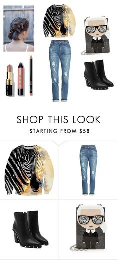 """Zebra look"" by miloni-jhaveri ❤ liked on Polyvore featuring KUT from the Kloth, Karl Lagerfeld and Bobbi Brown Cosmetics"