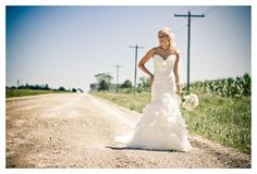 Rustic and stylish country road wedding photography from RomanceExists.com