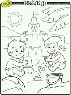 Color Your Dream Sand Castle With This Summer Coloring Page