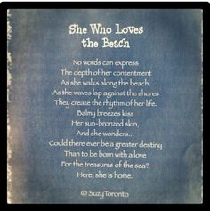 She Who Loves the Beach ...