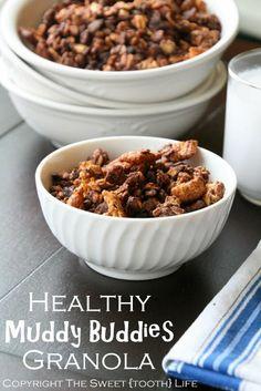 Healthy Muddy Buddies Granola (gluten free, dairy free)