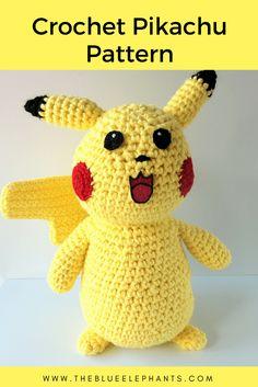 Free Pattern: Crochet Pikachu Plushie | The Blue Elephants