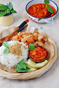 Nasi Udang Bu Rudy Recipe (Mrs. Rudy Shrimp Rice) - yummy sounding Indonesian food!